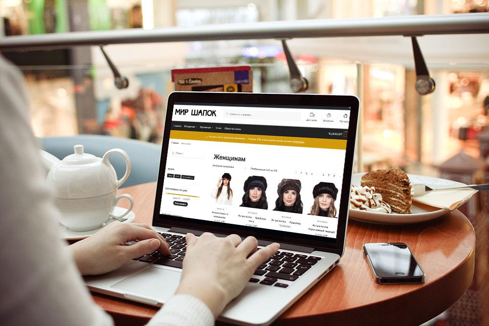 Создание сайта для магазина шапок